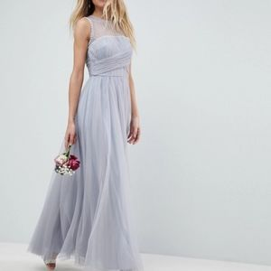 ASOS DESIGN Bridesmaid maxi prom dress with pearl